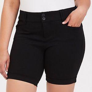 Torrid cuffed ponte bermuda shorts